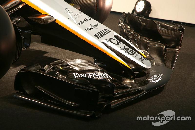 印度力量 VJM10 赛车 - 前翼细节