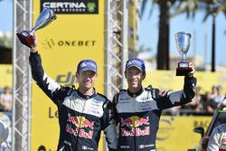 Podium: second place Sébastien Ogier, Julien Ingrassia, Ford Fiesta WRC, M-Sport