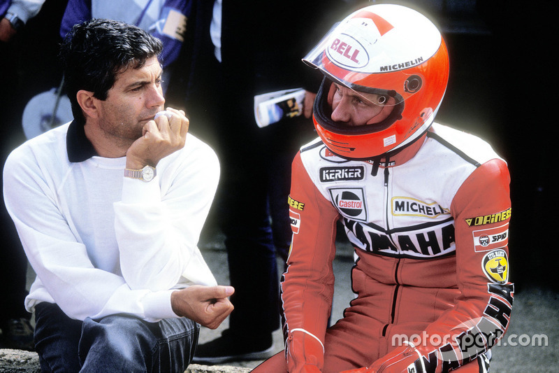 Giacomo Agostini y Eddie Lawson, Yamaha