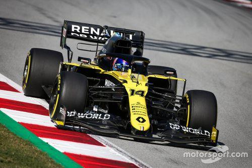 Fernando Alonso Renault Barcelona filming day