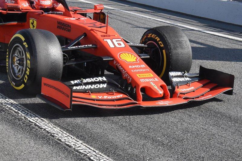 Ferrari SF90, dettaglio dell'ala anteriore