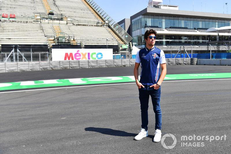 Lance Stroll, Williams Racing, fait une reconnaissance de la piste