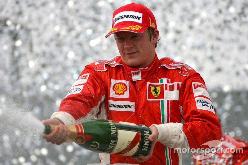Kimi Raikkonen, Ferrari celebra