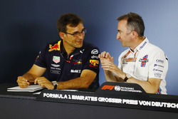 Pierre Wache, Red Bull Racing and Paddy Lowe, Williams, in the Press conference