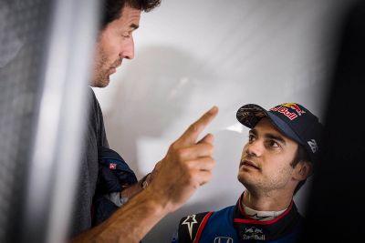 Pedrosa en Cairoli Toro Rosso test