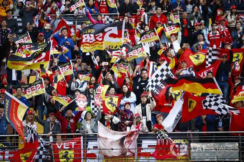 Support for Sebastian Vettel, Ferrari