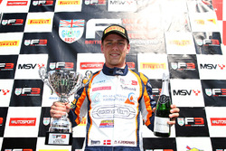 Podium: race winner Nicolai Kjaergaard, Carlin