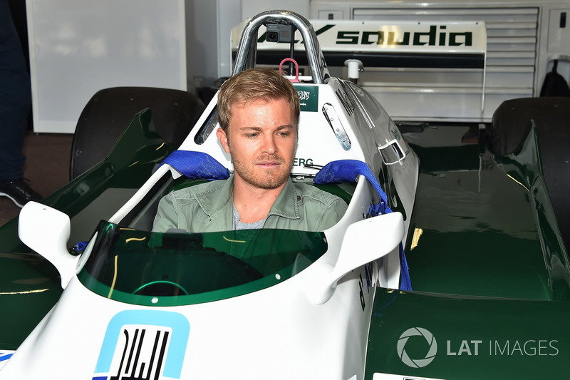 Nico Rosberg, in the Williams FW08 of his Father Keke Rosberg