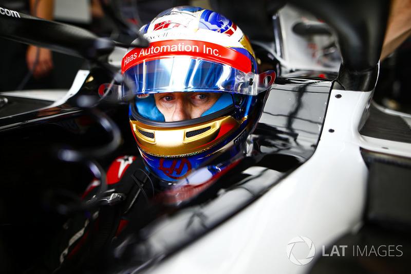 Romain Grosjean, Haas F1 Team, in cockpit