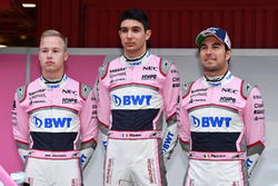 Nikita Mazepin, Sahara Force India F1, Esteban Ocon, Sahara Force India F1 and Sergio Perez, Sahara Force India