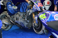 Bike von Maverick Viñales, Yamaha Factory Racing, nach Sturz
