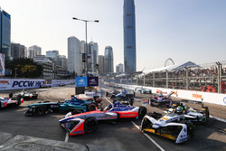 Luca Filippi, NIO Formula E Team, Nick Heidfeld, Mahindra Racing, andLucas di Grassi, Audi Sport ABT Schaeffler