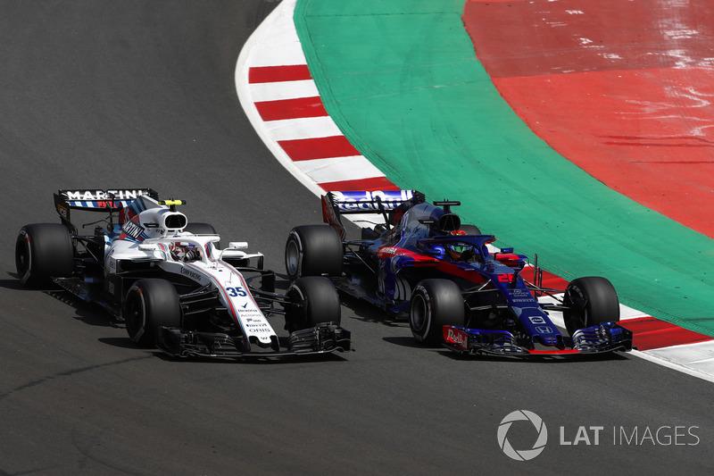 Sergey Sirotkin, Williams FW41, Brendon Hartley, Toro Rosso STR13