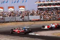 Gilles Villeneuve, Ferrari 126CK; Jacques Laffite, Ligier JS17; John Watson, McLaren MP4/1