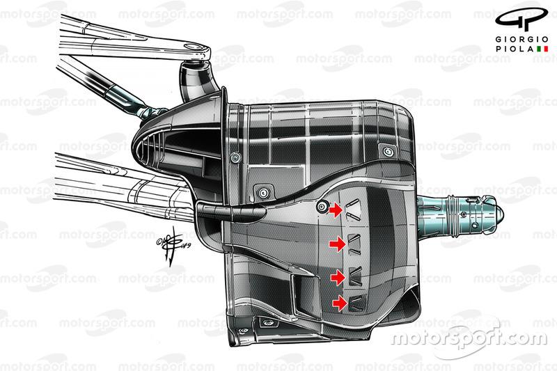 Freno delantero del Mercedes AMG F1 W10