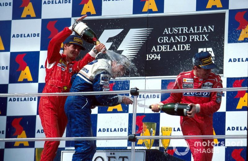 Podyum: 2. Gerhard Berger, Ferrari, Yarış galibi Nigel Mansell, Williams, 3.Martin Brundle, McLaren