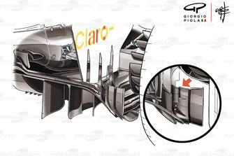 Sauber C37, dettaglio del diffusore