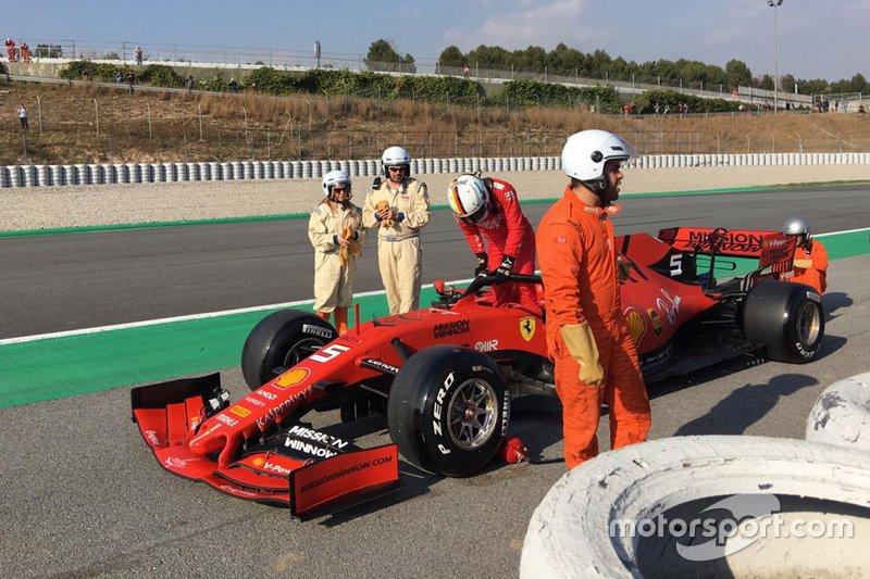 Зупинка на трасі Себастьяна Феттеля, Ferrari SF90