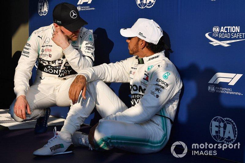 Валттері Боттас, Mercedes AMG F1, володар поулу Льюіс Хемілтон, Mercedes AMG F1