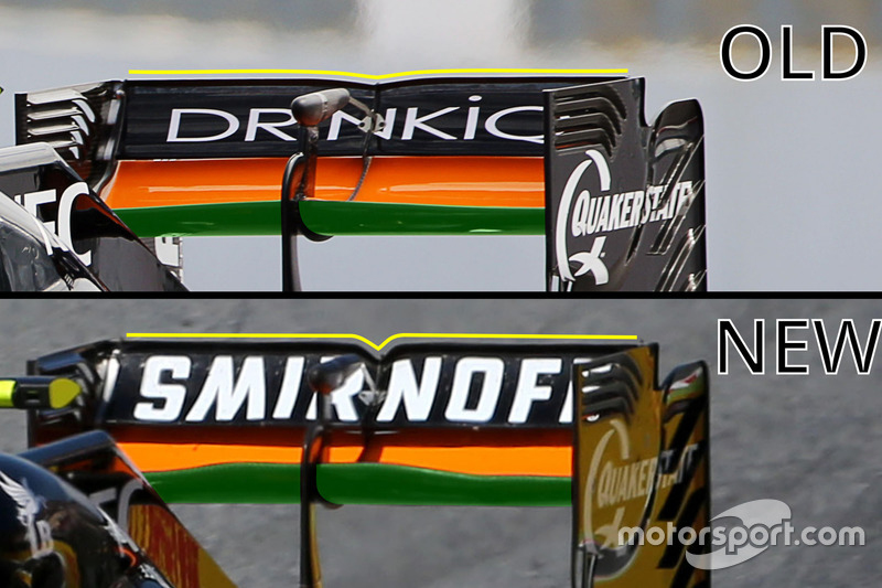 Sahara Force India F1 VJM09 rear wing detail