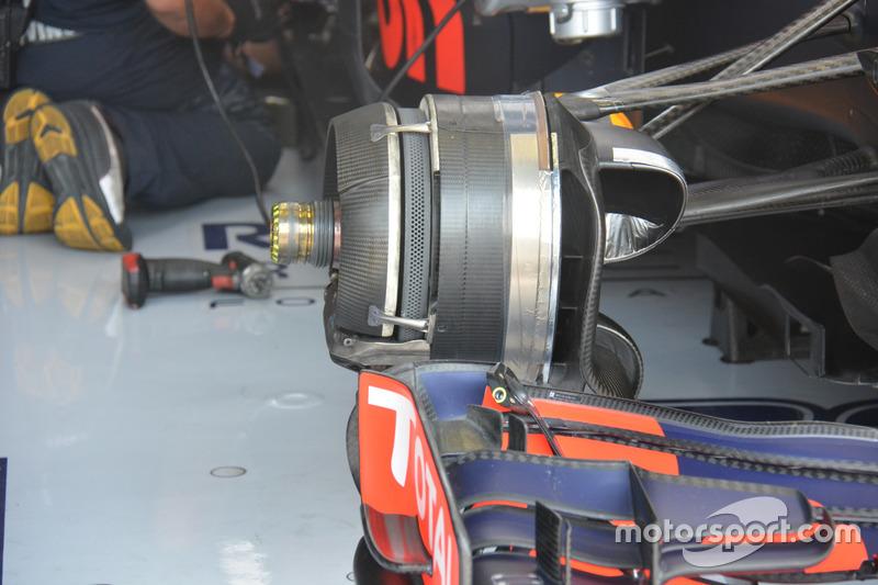 Vorderradbremse am Auto von Max Verstappem, Red Bull Racing RB12