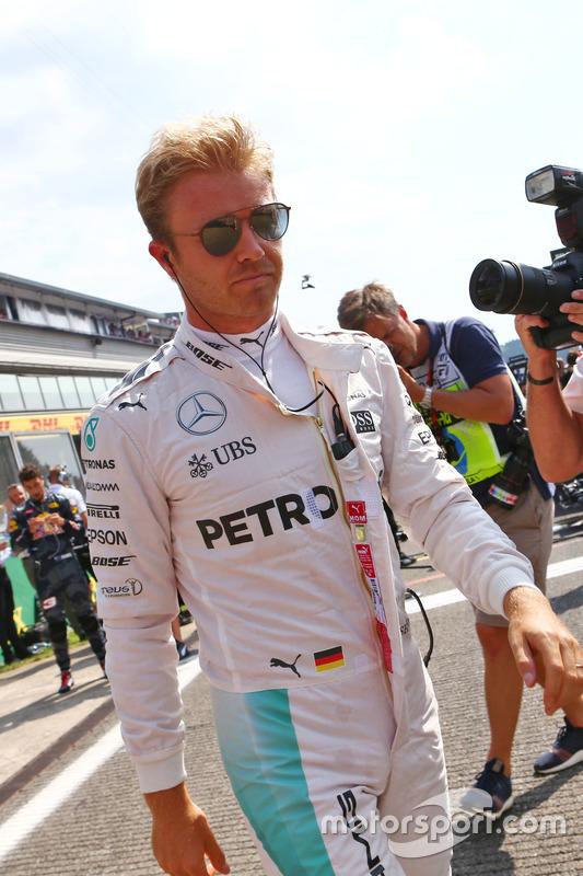 Nico Rosberg, Mercedes AMG F1 in griglia