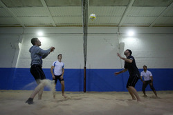 Marco Wittmann and Philipp Eng, Indoor Beachvolleyball
