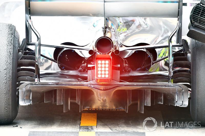 Mercedes-AMG F1 W09 arka ve difüzör