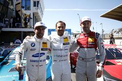 Los 3 mejores después de la calificación, Pole position Gary Paffett, Mercedes-AMG Team HWA, Philipp Eng, BMW Team RBM, René Rast, Audi Sport Team Rosberg