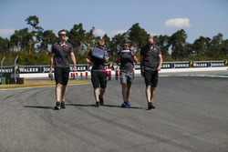 Romain Grosjean, Haas F1 Team, walks the track