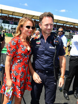 Christian Horner, Red Bull Racing Team Principal and Geri Horner, on the grid