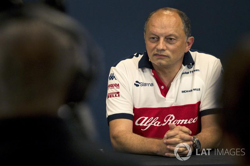 Frederic Vasseur, Sauber, Team Principal, lors de la conférence de presse