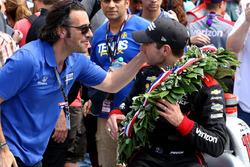 1. Will Power, Team Penske Chevrolet, mit Dario Franchitti