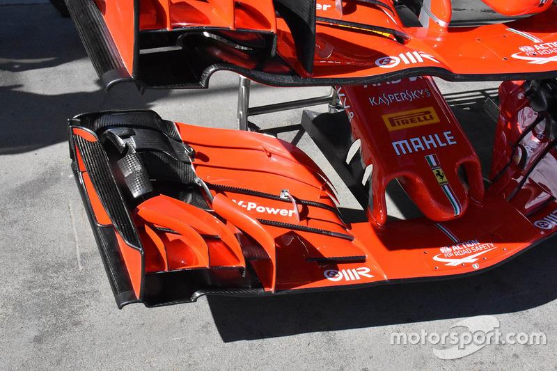 Ferrari SF71H: Frontflügel