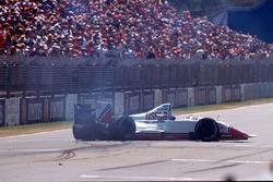 Eddie Cheever,Arrows A11 crash