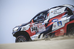 #346#  Andre Villas-Boas (PRT) of Overdive Toyota races during stage 1 of Rally Dakar 2018 from Lima to Pisco, Peru on January 6, 2018. // Flavien Duhamel/Red Bull Content Pool // P-20180107-00016 // Usage for editorial use only // Please go to www.redbull