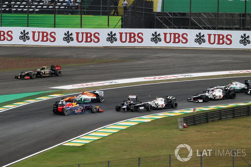 Зіткнення Бруно Сенни (Williams) і Себастьяна Феттеля (Red Bull)