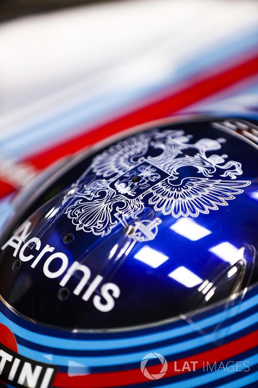 The helmet of Sergey Sirotkin, Williams Racing