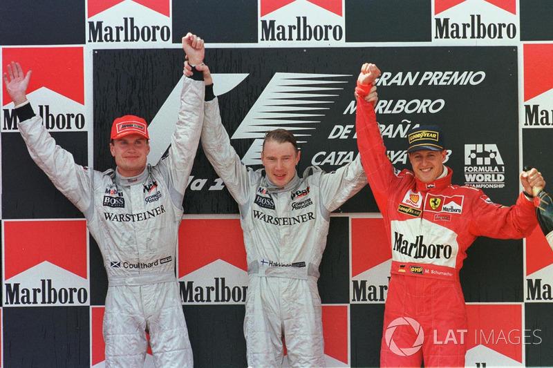 1998: 1. Mika Hakkinen, McLaren 2. David Coulthard, McLaren 3. Michael Schumacher, Ferrari