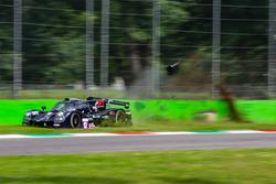 #12 Eurointernational Ligier JS P3 - Nissan: Andrea Dromedari, Maxwell Hanratty, Mark Kvamme, crash