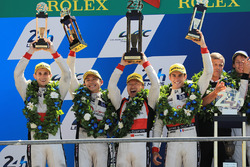 Podium: second place Ho-Pin Tung, Oliver Jarvis, Thomas Laurent, DC Racing