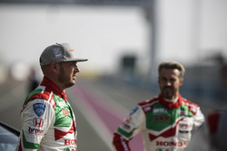 Rob Huff, Honda Racing Team JAS, Honda Civic WTCC and Tiago Monteiro, Honda Racing Team JAS, Honda Civic WTCC
