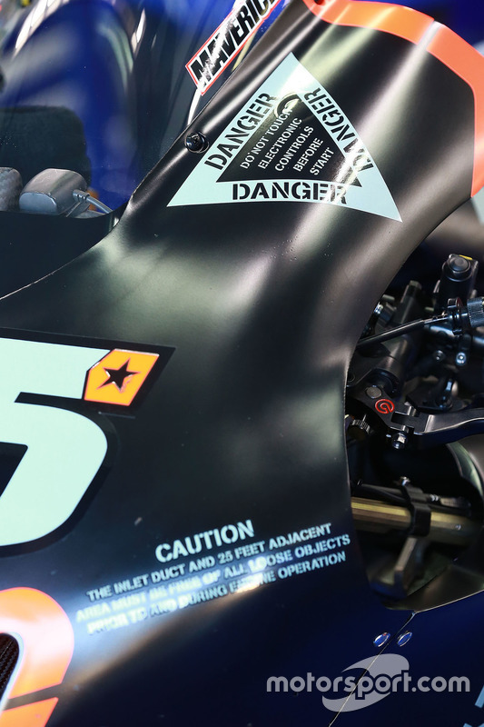 Maverick Viñales, Yamaha Factory Racing bike detail