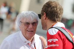 Bernie Ecclestone with Sebastian Vettel, Ferrari