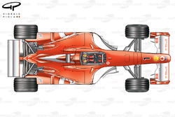 DUPLICATE: Ferrari F2003-GA top view, differing bargeboards
