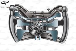 Red Bull RB5 2009 steering wheel rear view