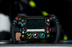 The steering wheel of Mercedes AMG F1 W08