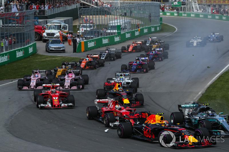 Валттері Боттас, Mercedes-Benz F1 W08, Макс Ферстаппен, Red Bull Racing RB13, Себастьян Феттель, Fer
