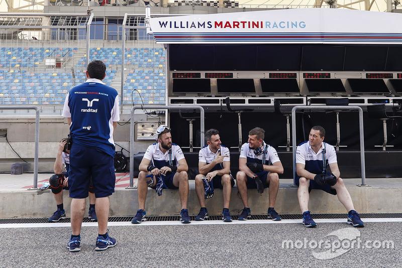 Teammitglieder: Williams team