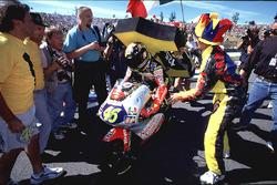 Valentino Rossi, Aprilia with fans
